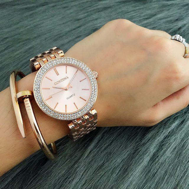 Women's Wristwatches with Rhinestone Decor