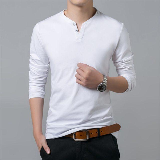 Men's Casual Cotton Long Sleeve