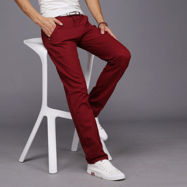 Men's Casual Style Slim Pants