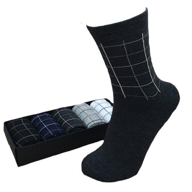 Men's Business Plaid Socks