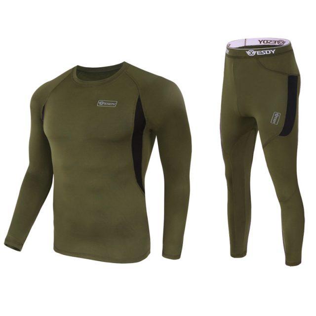 Men's Fleece Thermal Underwear Set