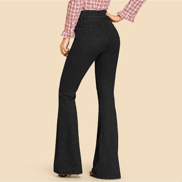 Women's High Waist Flare Leg Jeans